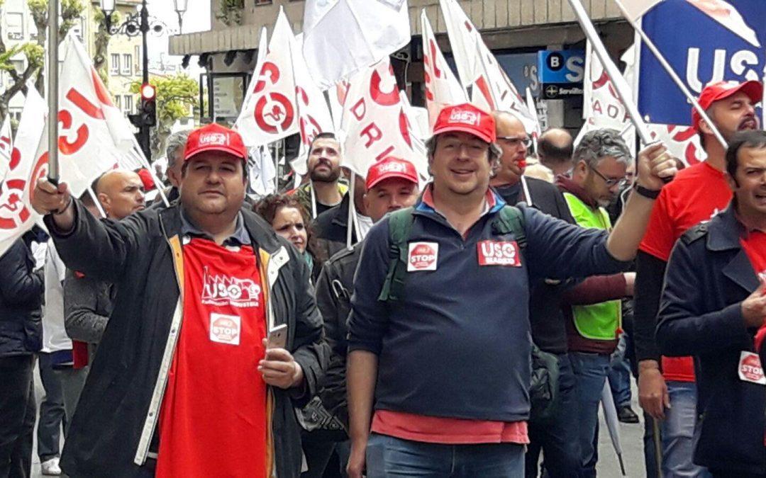 USO celebra el 1º de mayo en Oviedo