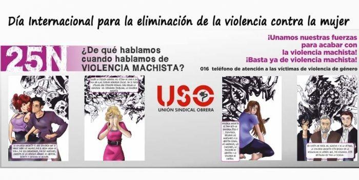 USO publica un informe sobre violencia contra la mujer