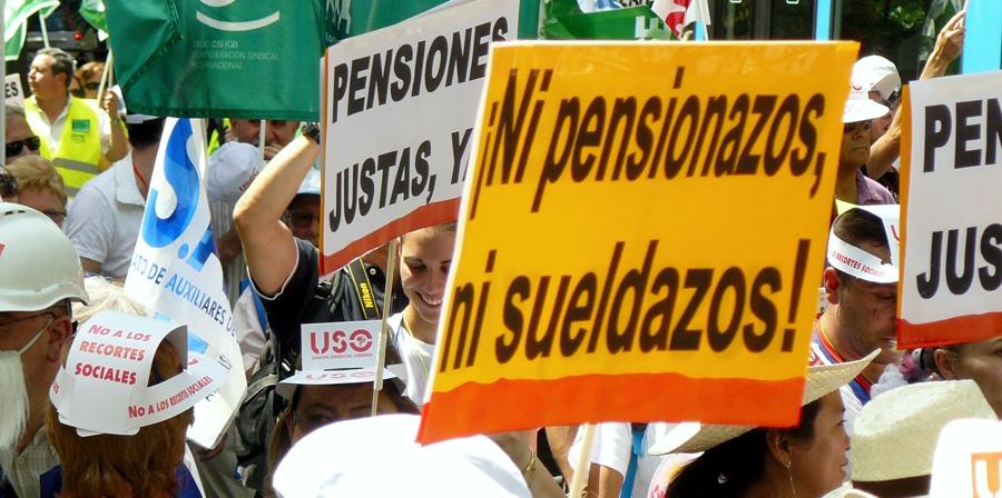 USO exige la derogación de la reforma de las pensiones de 2011 y las leyes que la desarrollan