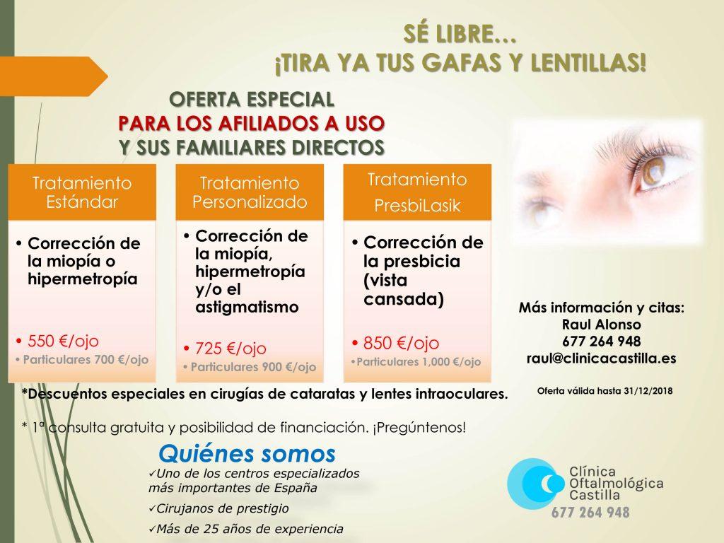 Descuento USO clínica optalmológica Castilla