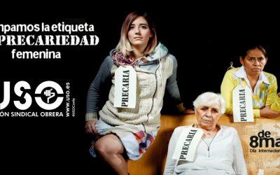 USO convoca paros parciales el 8 de marzo para protestar por la discriminación laboral de las mujeres en España