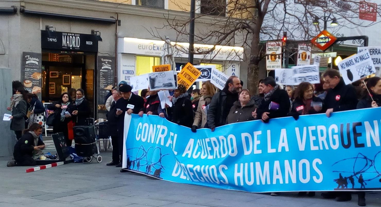 USO-Madrid con los refugiados