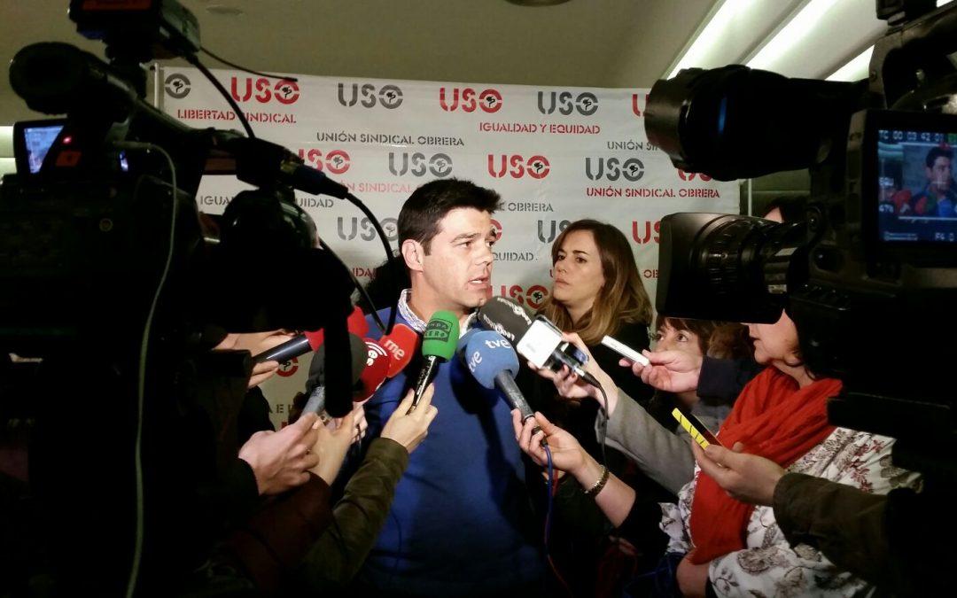 USO llama a movilizarse el 1 de Mayo para recuperar los salarios