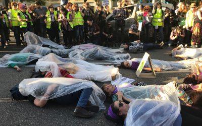 USO-Madrid reivindicó en la calle el cumplimiento del Pacto de Estado contra la Violencia de Género