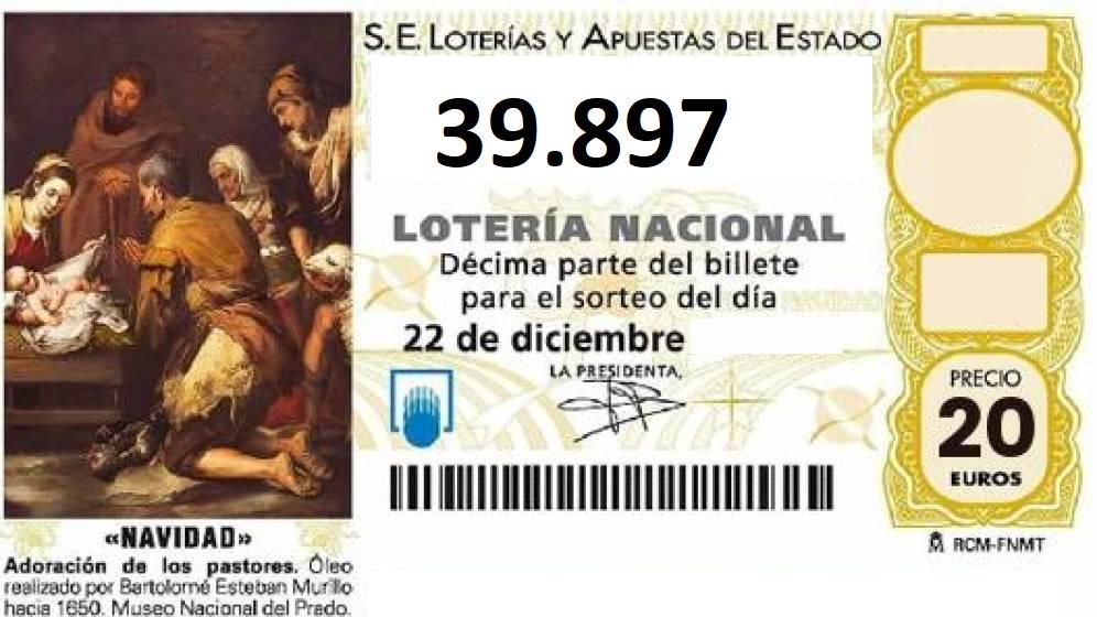 Ya tenemos la Lotería de Navidad: 39.897