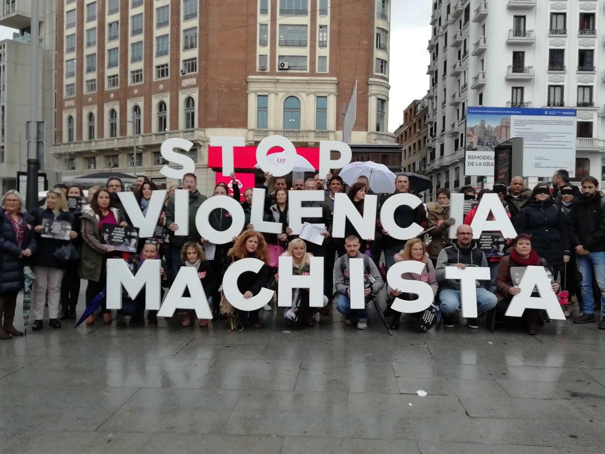 USO-Madrid acude al acto confederal contra la violencia de género