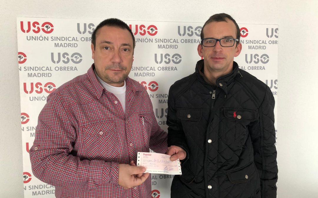 La CRS abona un cheque a un trabajador sancionado