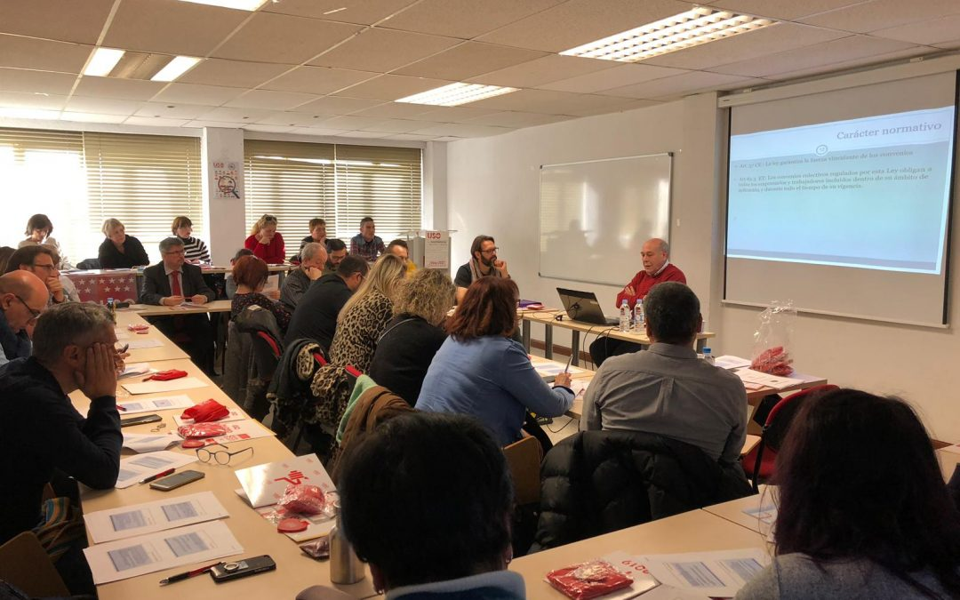 Curso de negociación colectiva para delegados de USO-Madrid.