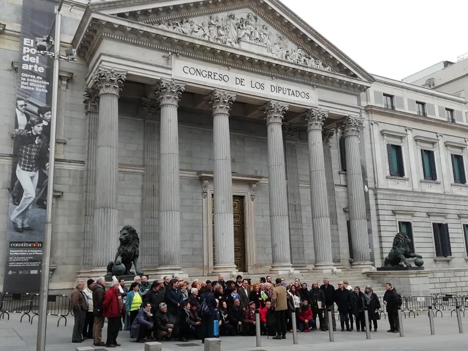 Representantes de la MERP ante el Congreso de los Diputados