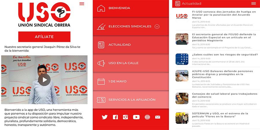 Ya está disponible la nueva app de USO