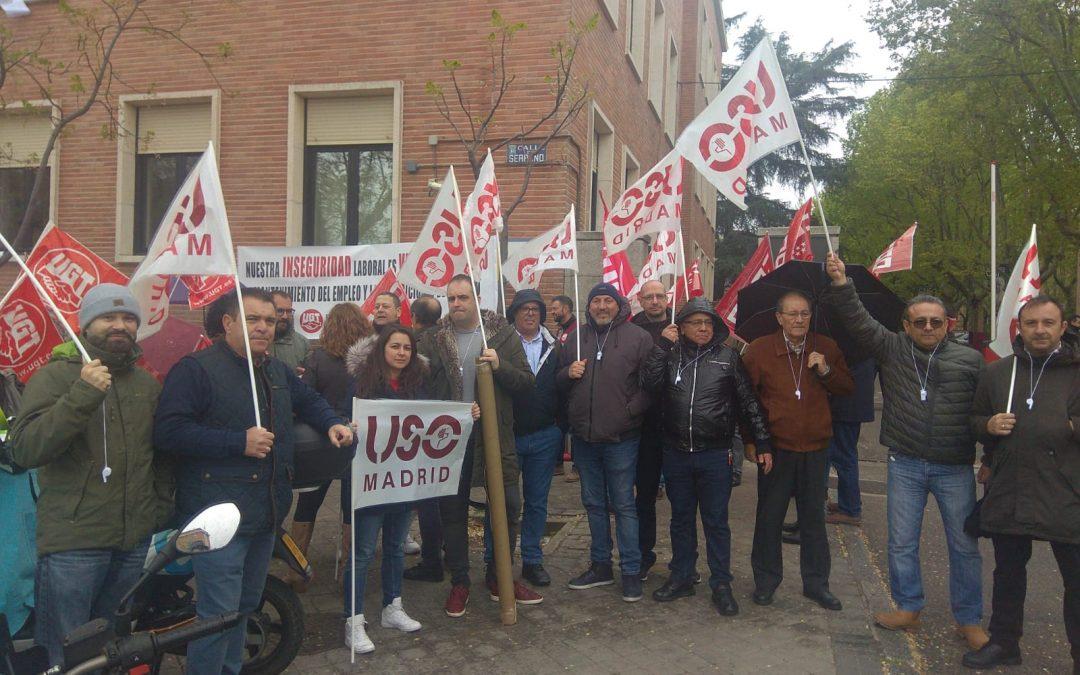 Concentración de FTSP-USO frente al CSIC contra la empresa Ariete Seguridad