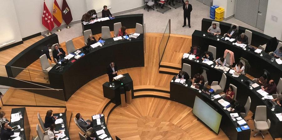El pleno del Ayuntamiento de Madrid durante la sesión.