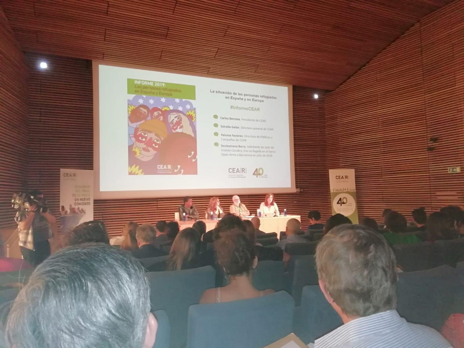 USO-Madrid acude a la presentación del informe anual de CEAR