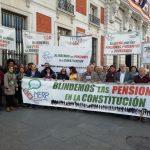 Manifestación junto a la MERP por el blindaje de las pensiones