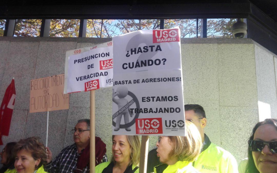 Un centenar de trabajadores del SER reclaman el reconocimiento de autoridad pública