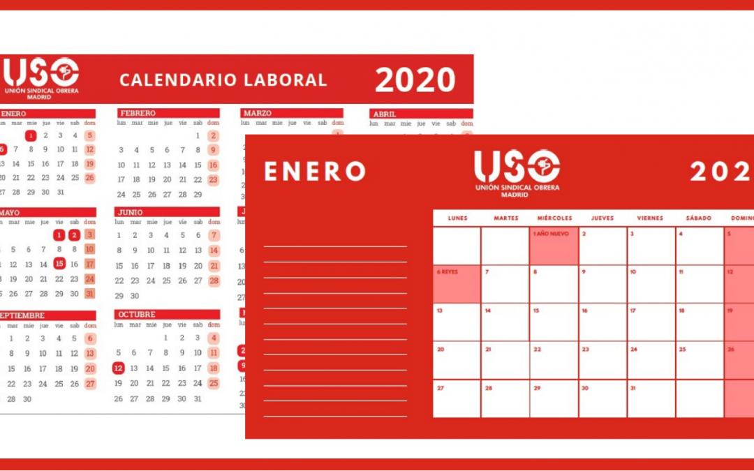 Ya está disponible el calendario laboral 2020 de USO-Madrid