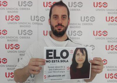 Darío Arias, compañero de USO-Madrid.
