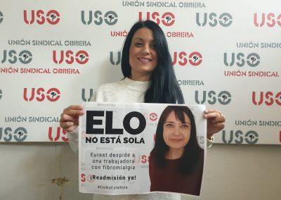 Compañera de USO Castilla La Mancha.