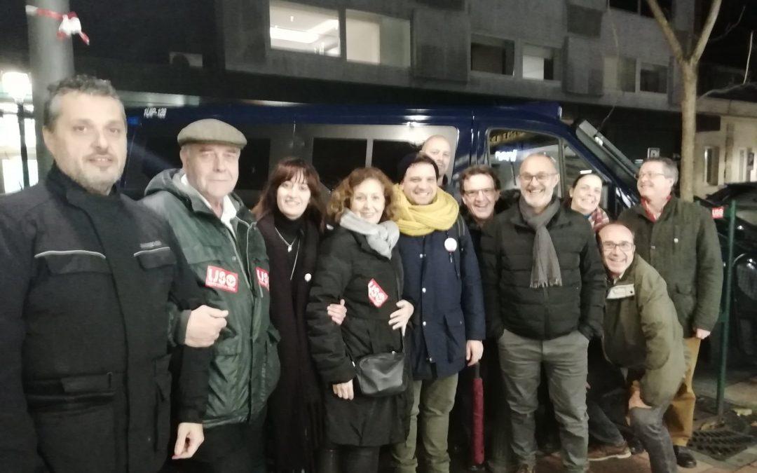 USO se solidariza con los sindicatos chilenos en una protesta frente a la embajada