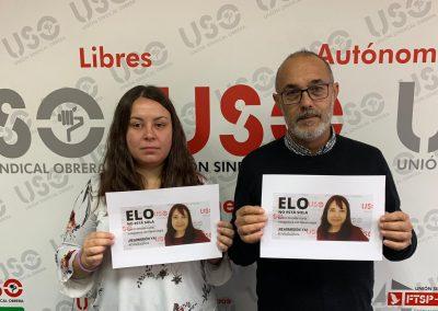 Laura Estévez, secretaria de Comunicación de USO Confederal, y David Díaz, secretario de Organización.