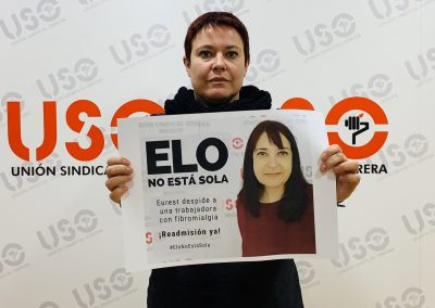 Sara García, secretaria de Acción Sindical y Salud Laboral de USO Confederal.