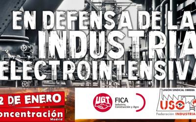 USO se concentrará mañana frente al Congreso para defender el empleo en la industria electrointensiva
