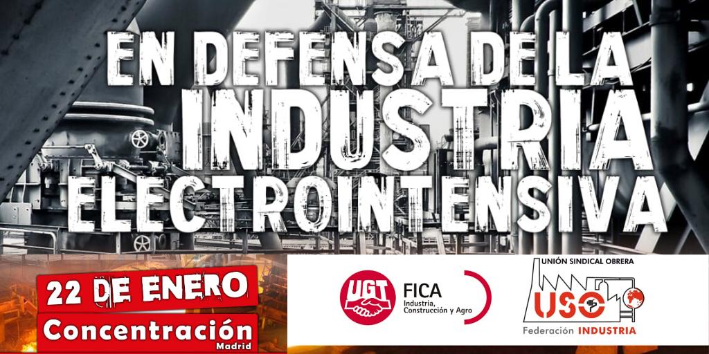 USO en defensa de la industria electrointensiva
