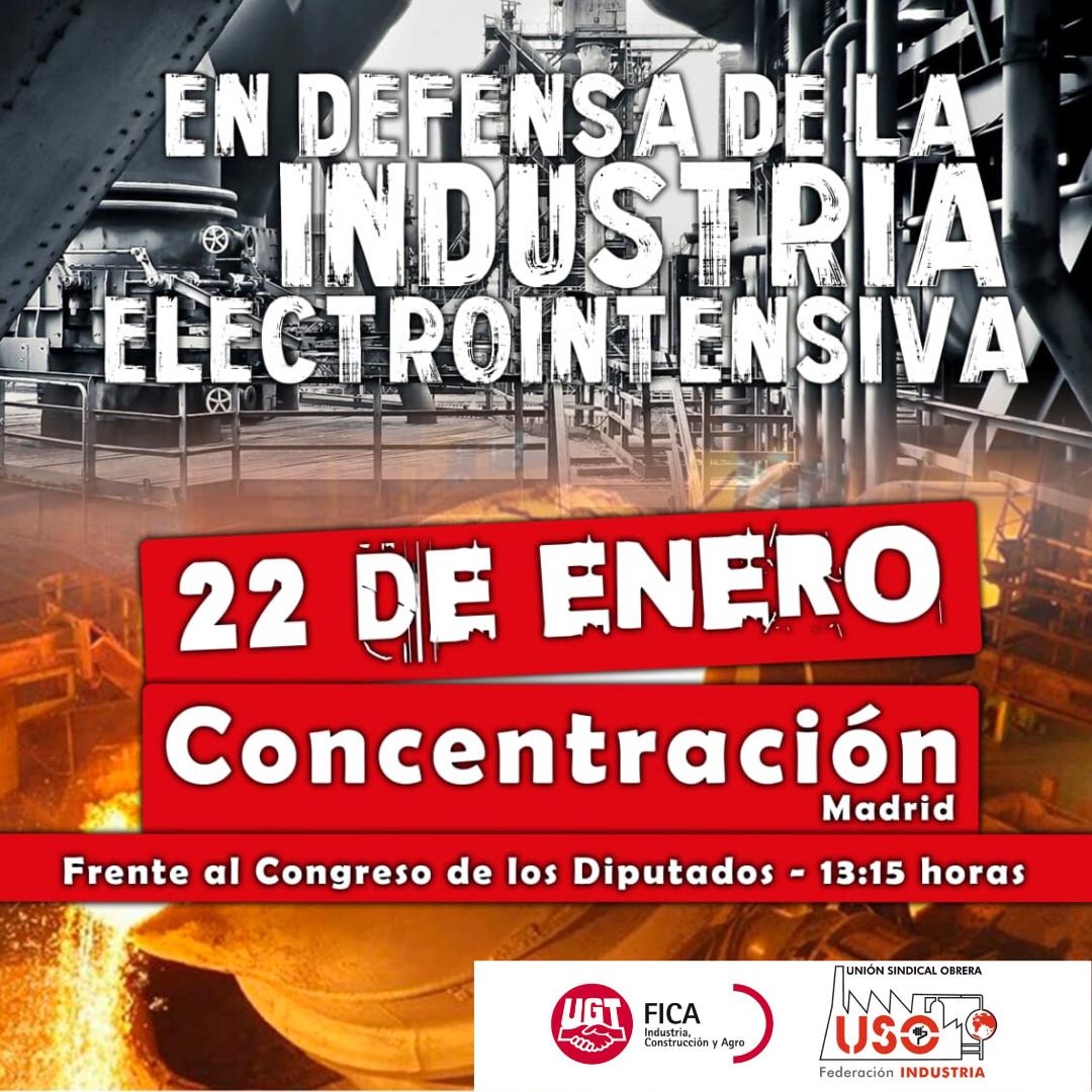 USO en defensa de la industria electrointensiva.