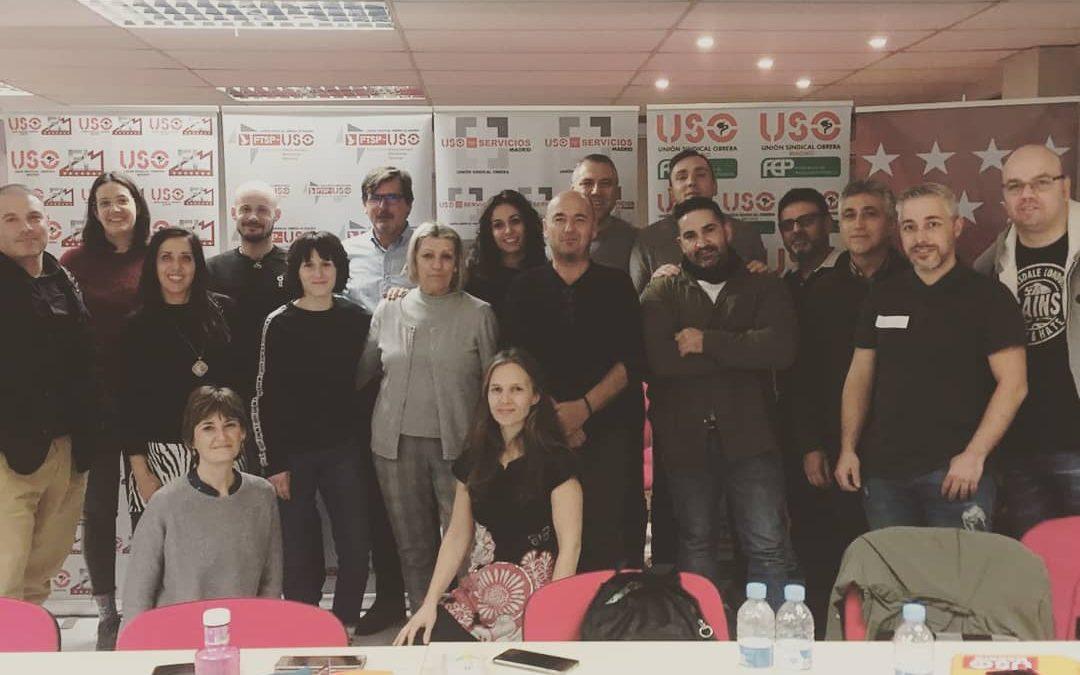 """Asistentes al curso de USO-Madrid sobre """"Cómo hablar en público"""""""