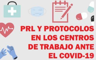 Nueva guía gratuita de PRL y protocolos en los centros de trabajo ante el coronavirus