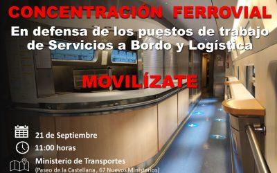 Los trabajadores de servicio a bordo de Renfe se manifestarán este lunes en las principales ciudades españolas