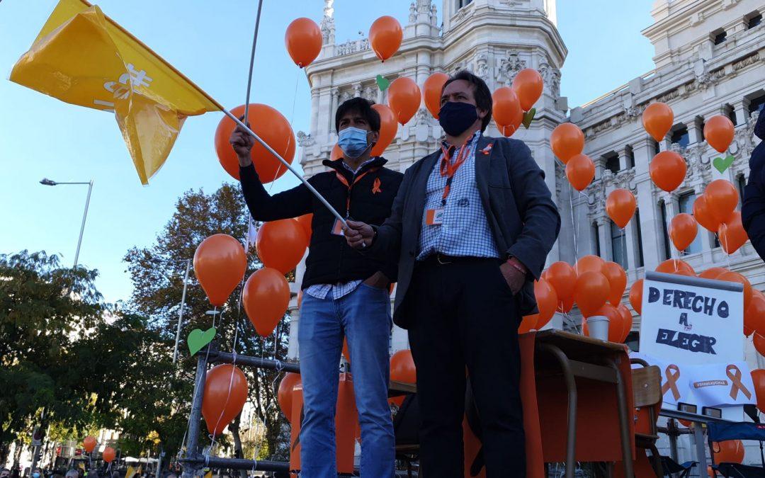 Multitudinaria protesta contra la Ley Celaá