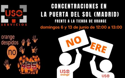 USO convoca concentraciones en contra del ERE en Orange